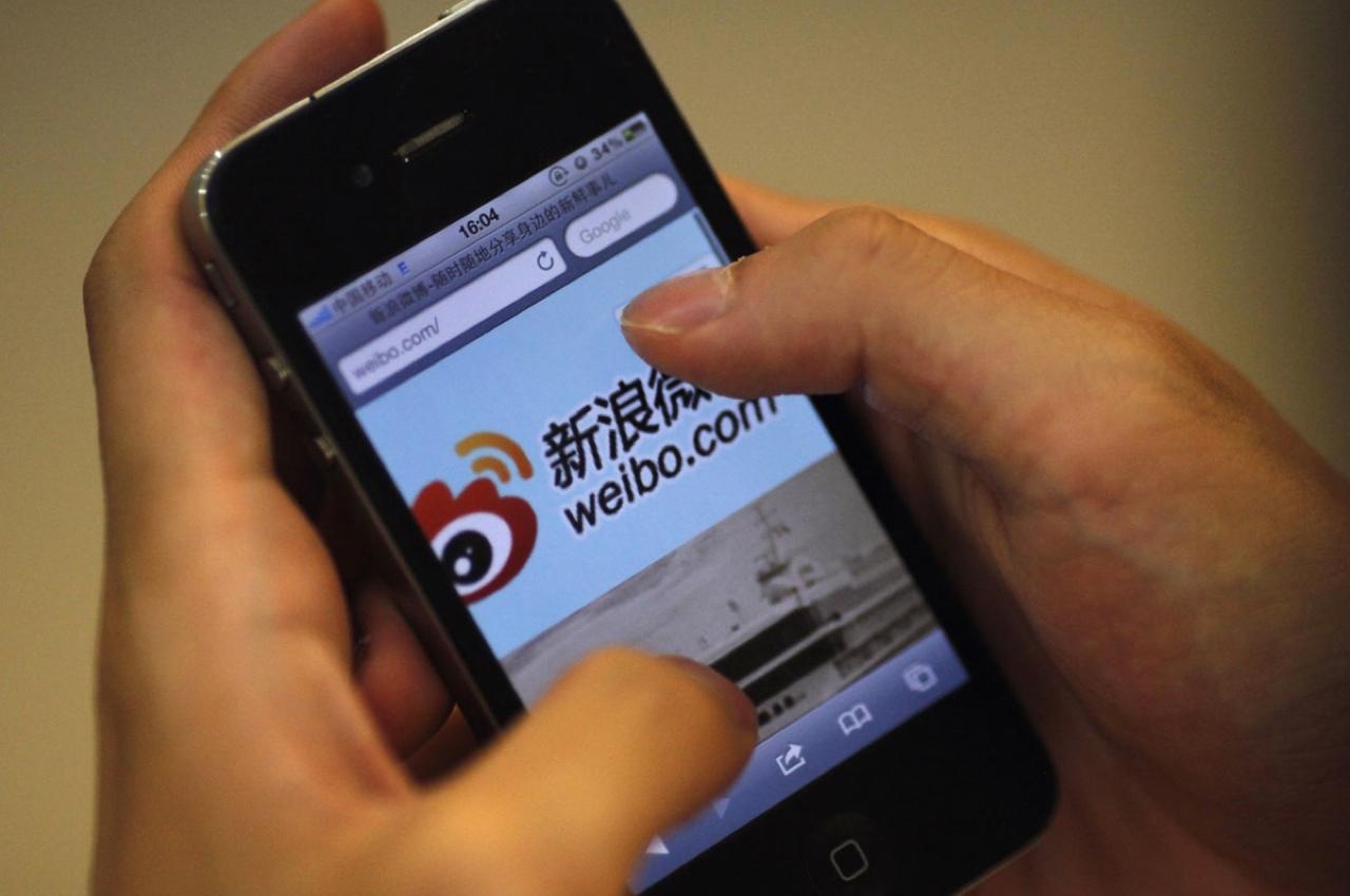 Weibo - китайский аналог Твиттера