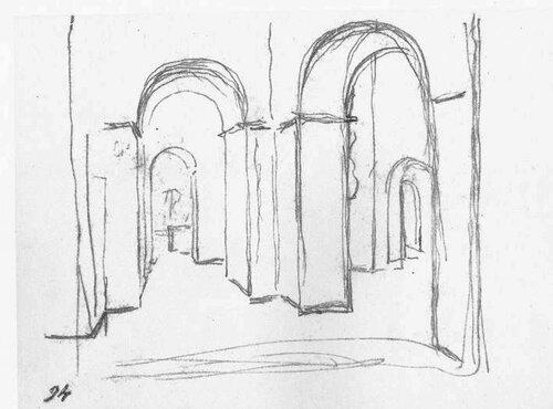 Внутрішній вигляд Києво-Софійського собору.