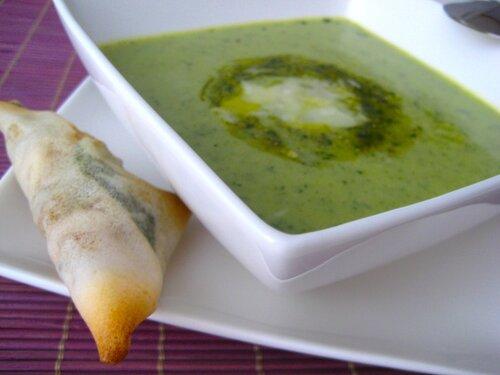 Zucchini pesto soup: суп из кабачка (цуккини) и песто