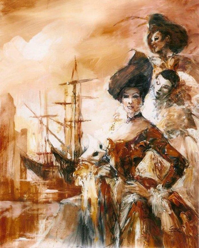 Театральные картины французского художника Мишеля Гийона