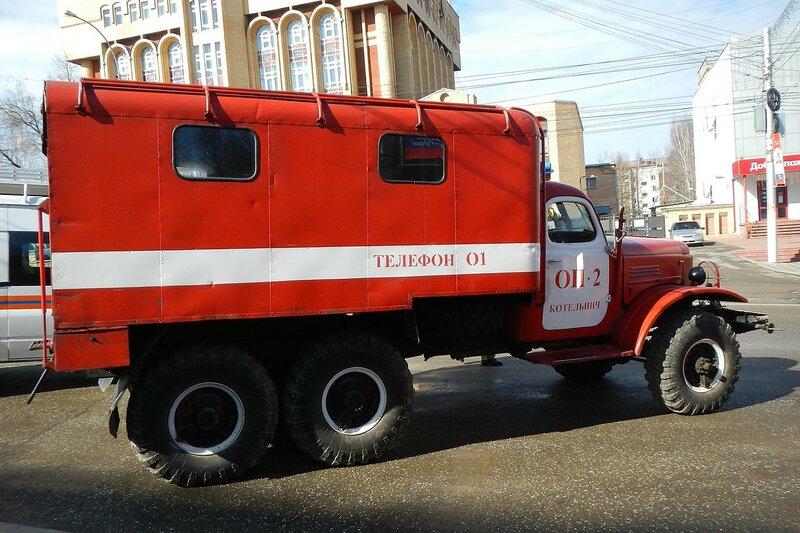 Рукавный автомобиль АР-2(157К)121 на шасси ЗИЛ-157К - автопробег пожарной спецтехники МЧС 25 апреля 2014 г.