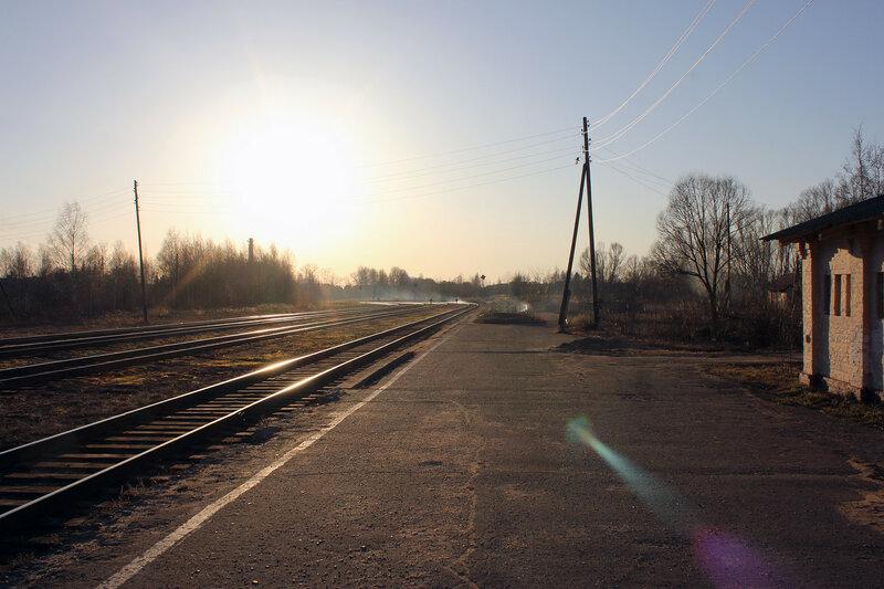 Станция Калязин, вид на Савёлово и Сонково