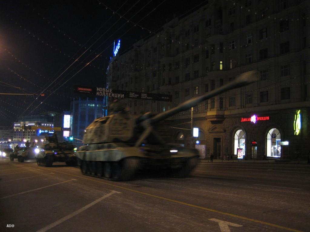 Репетиция к военному параду 2008