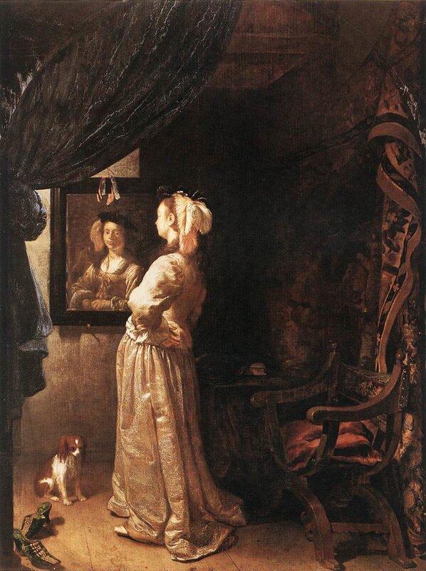 Фото русской женщины перед зеркалом фото 549-34