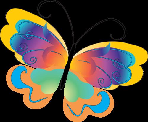 картинки рисованные бабочки