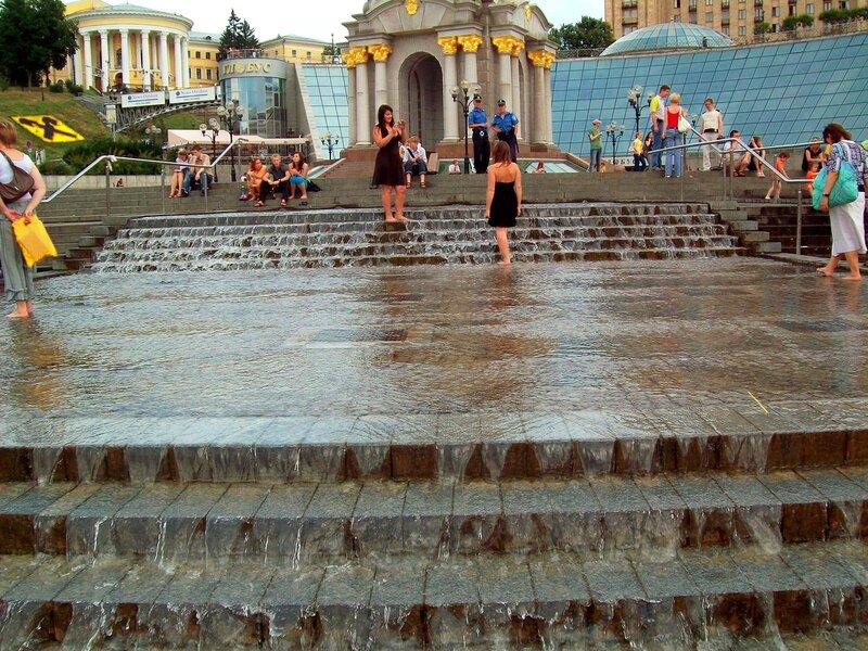 Водопад на Майдане Незалежности