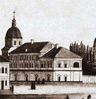 Учебный корпус Киево-Могилянской академии (рис.нач.XIX в)