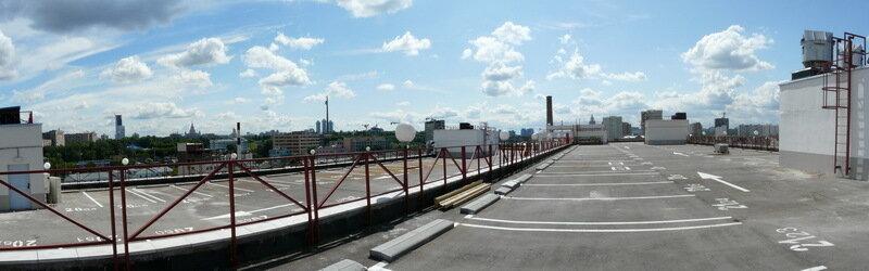 с крыши парковки Филион
