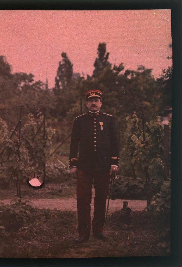 1910. Ницца. Портрет военного