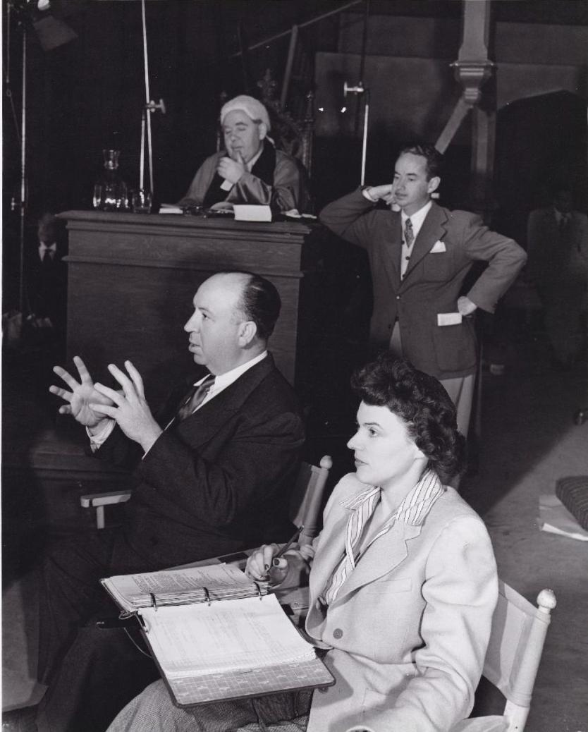 1947. Альфред Хичкок на съемочной площадке  фильма «Дело Паррадайна»