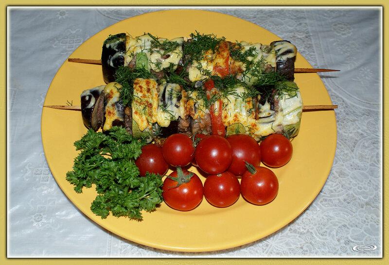 Шашлычки овощные с фаршем