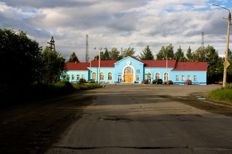 Вокзал города Апатиты