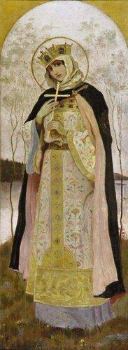 М.В.Нестеров «Святая княгиня Ольга» (Эскиз росписи Владимирского собора, 1892)