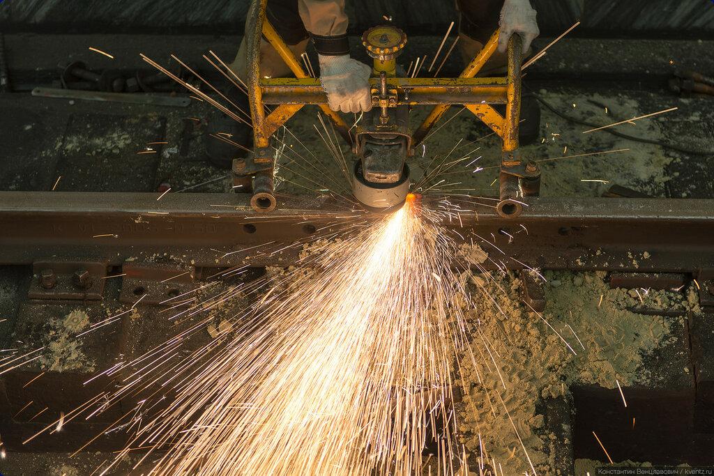 Сварка рельсовых стыков позволяет снизить уровень шума и вибрации при движении поездов
