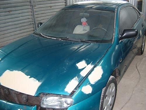 Покраска автомобиля Mazda.