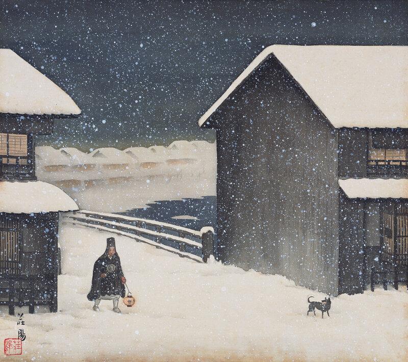 Miyako Festivals - японская живопись 1928 года