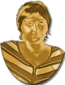 золотой барельеф