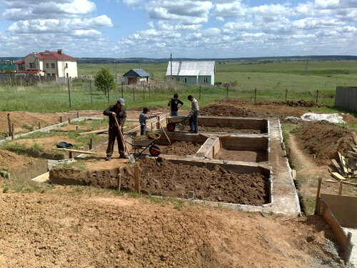 Стройка дома  поэтапно