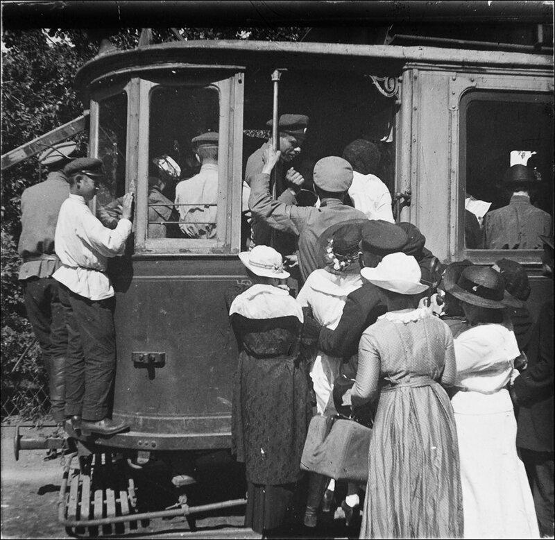 Московский трамвай. Из архива Т.Яржомбека