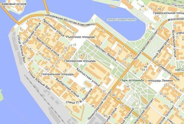 и карта Ленинградской