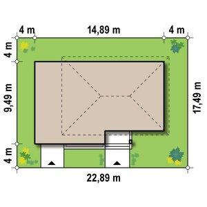 Расположение дома на участке. Частный дом