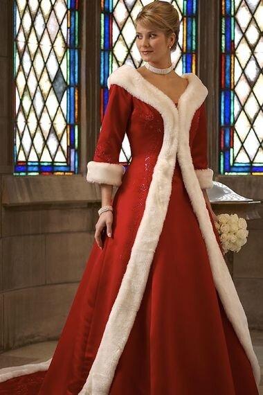 Свадебное платье и мех