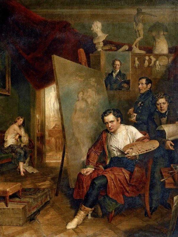 Голике Василий. В мастерской художника В.А.Голике. 1832