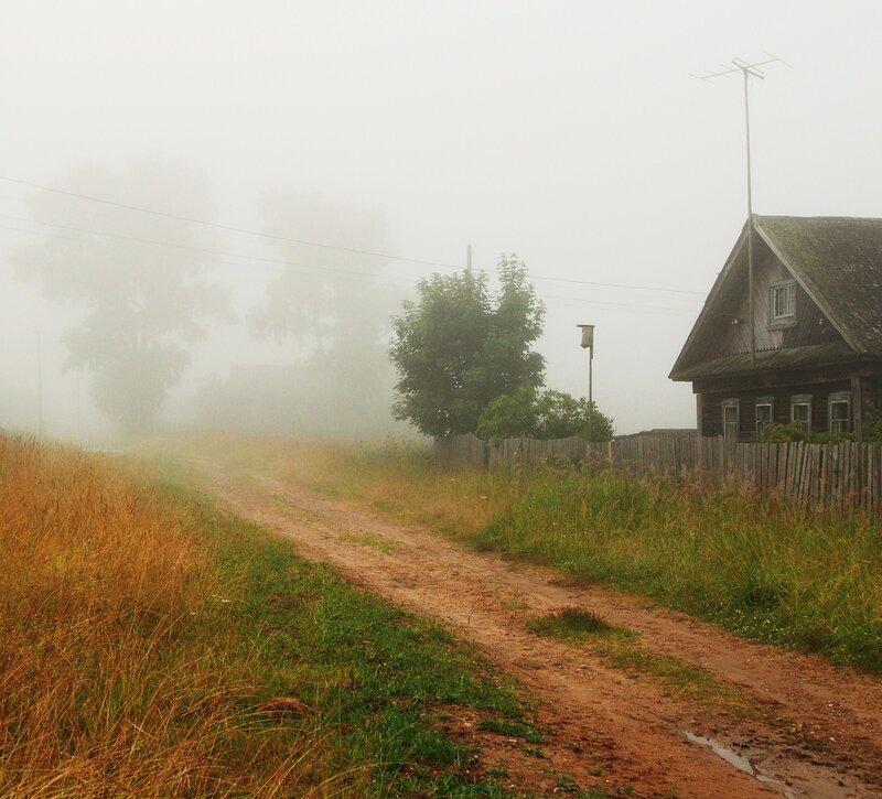 С утра туманило...