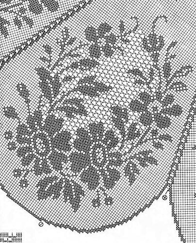 Схема скатерти (филейное вязание)