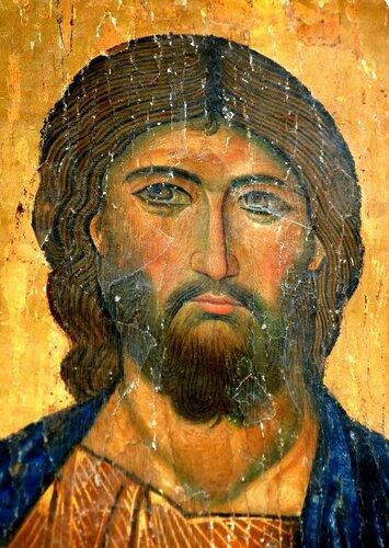 Христос Пантократор. Икона. Византия, начало XIII века. Монастырь Святой Екатерины на Синае.