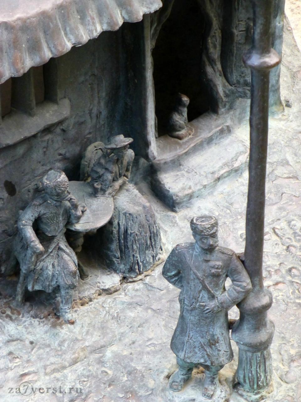 Краснодар, фонтан, скульптура полицейского