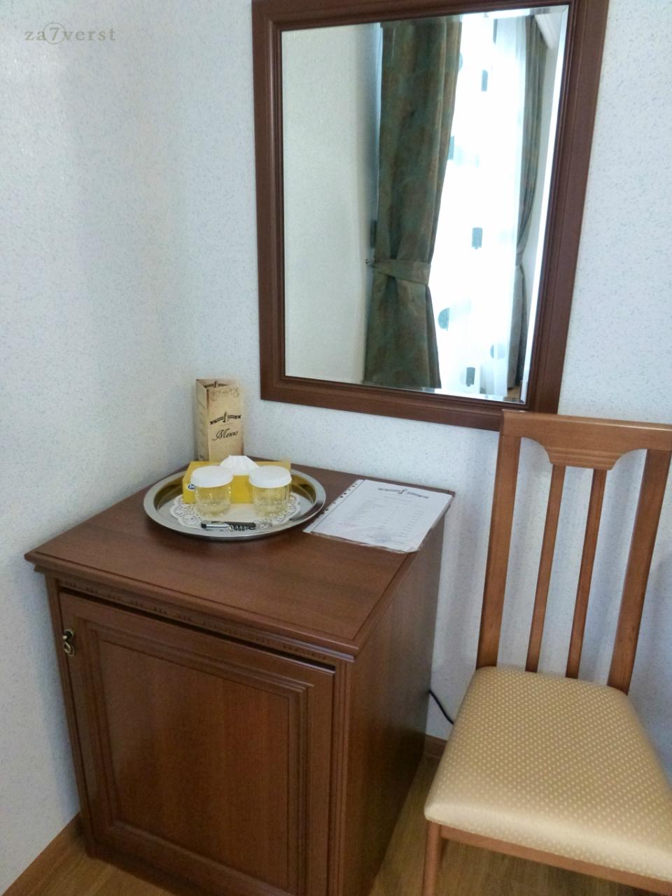 """Отель """"Южная башня"""" в Краснодаре, холодильник"""