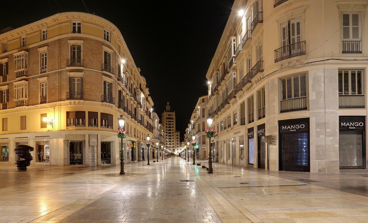 Ночная Малага. Улица Маркиза-де-Лариоса