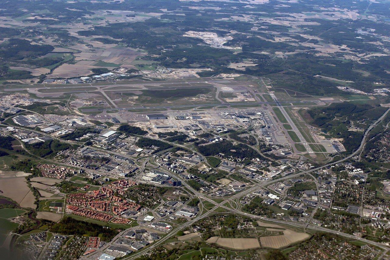 Аэропорт Хельсинки-Ванттаа c воздуха