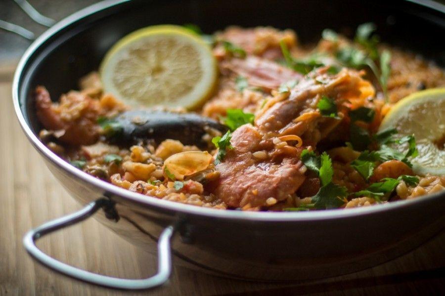 Рыба с рисом по португальски
