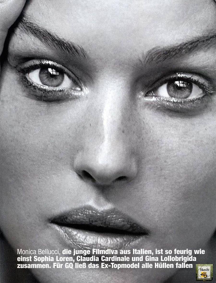 Автор снимка — Питер Линдберг, съемка для журнала GQ, 2002 год. Тогда Монике Беллуччи было 38 лет.