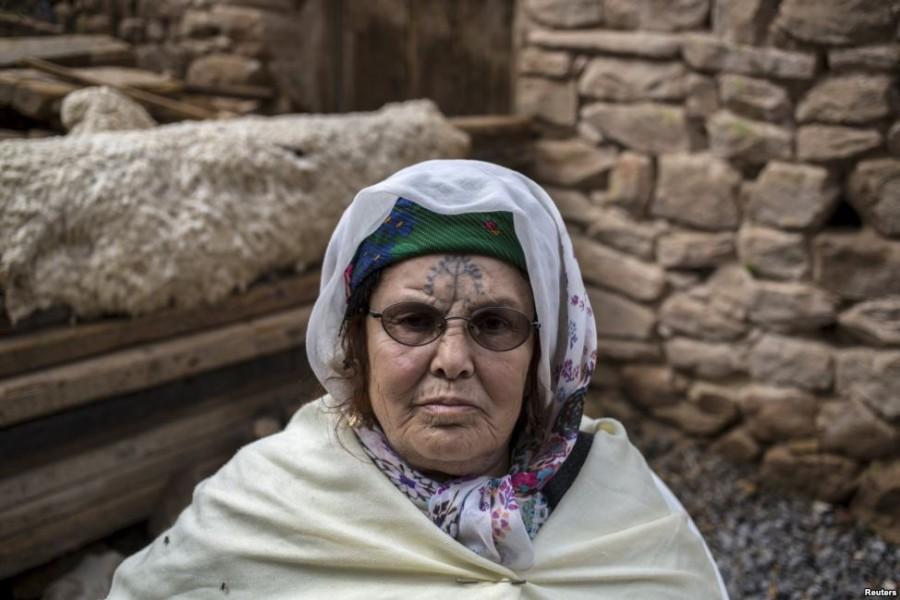 10. Хадра Кабсси, 74 года В возрасте 21 года Кабсси сделал татуировку ее двоюродный брат.