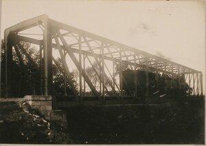 Вид восстановленного моста через реку Любачевку.