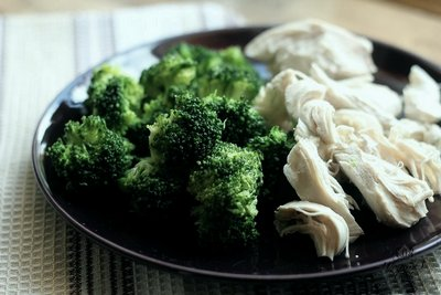 Куриные грудки с брокколи