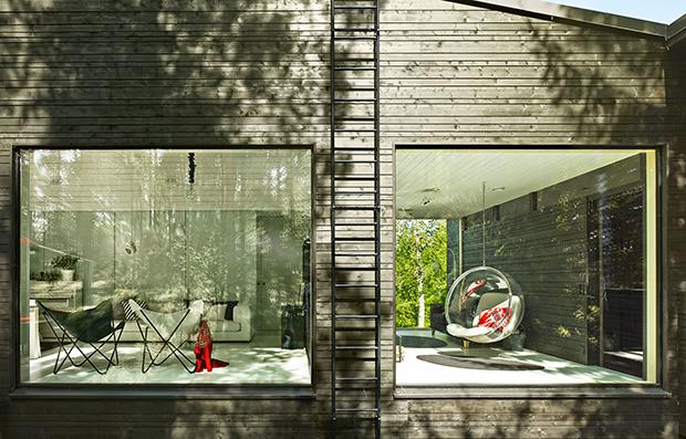 House Lehtikivi by Finnish architect Lasse Lehtinen of Arkkitehtuuri Oy Lehtinen Miettunen is loc