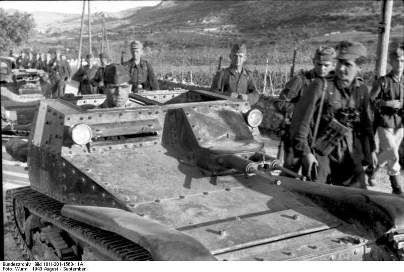 Balkan, deutsche und italienische Soldaten