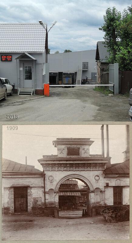 Входные ворота Петровских времен на Выйском медеплавильном заводе.