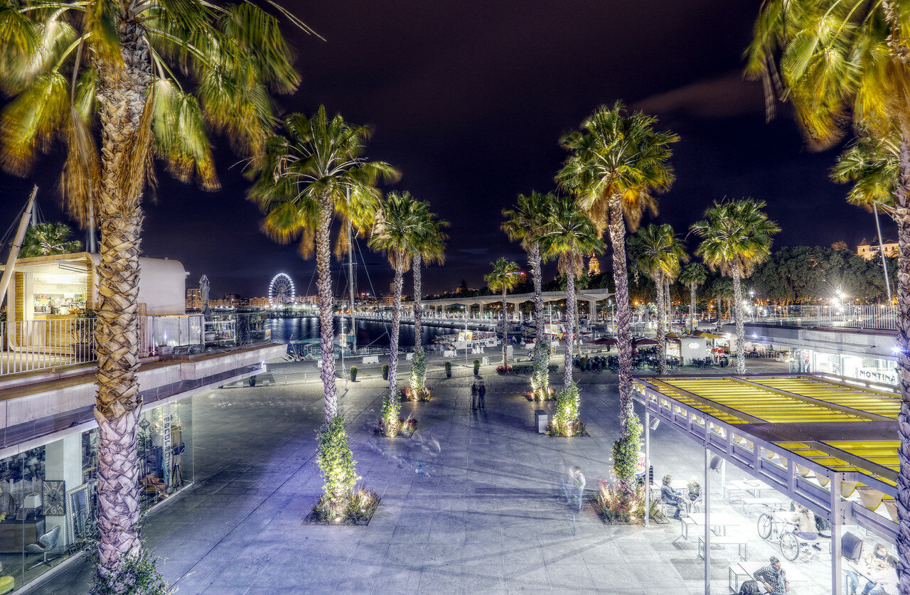 Night Malaga. HDR photo