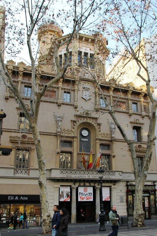 New Year's Eve Barcelona. Ramblas Boulevard