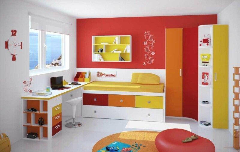 цветная детская комната