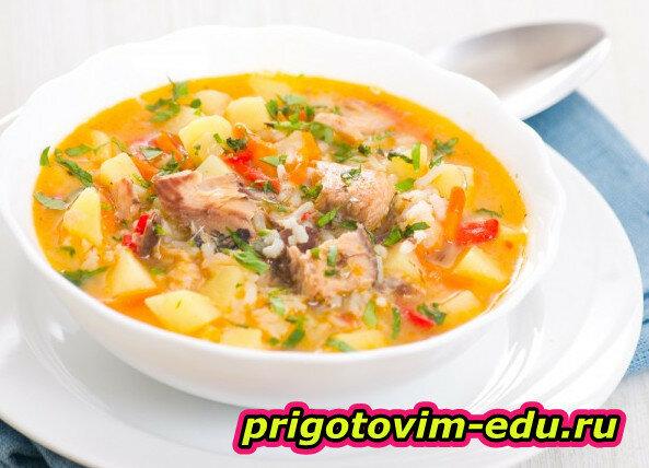 Картофельный супчик с рыбой
