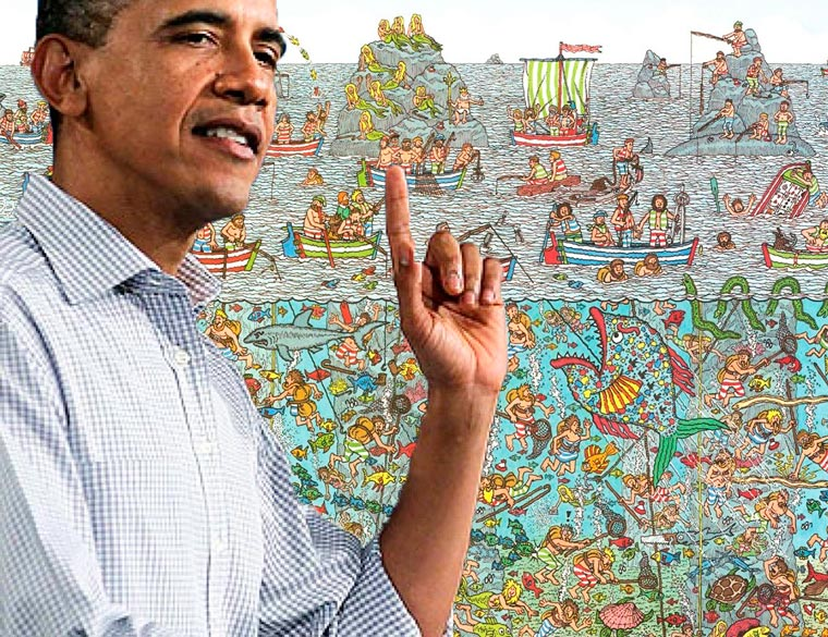 Thanks, Obama! - When the US President helps you find where is Waldo