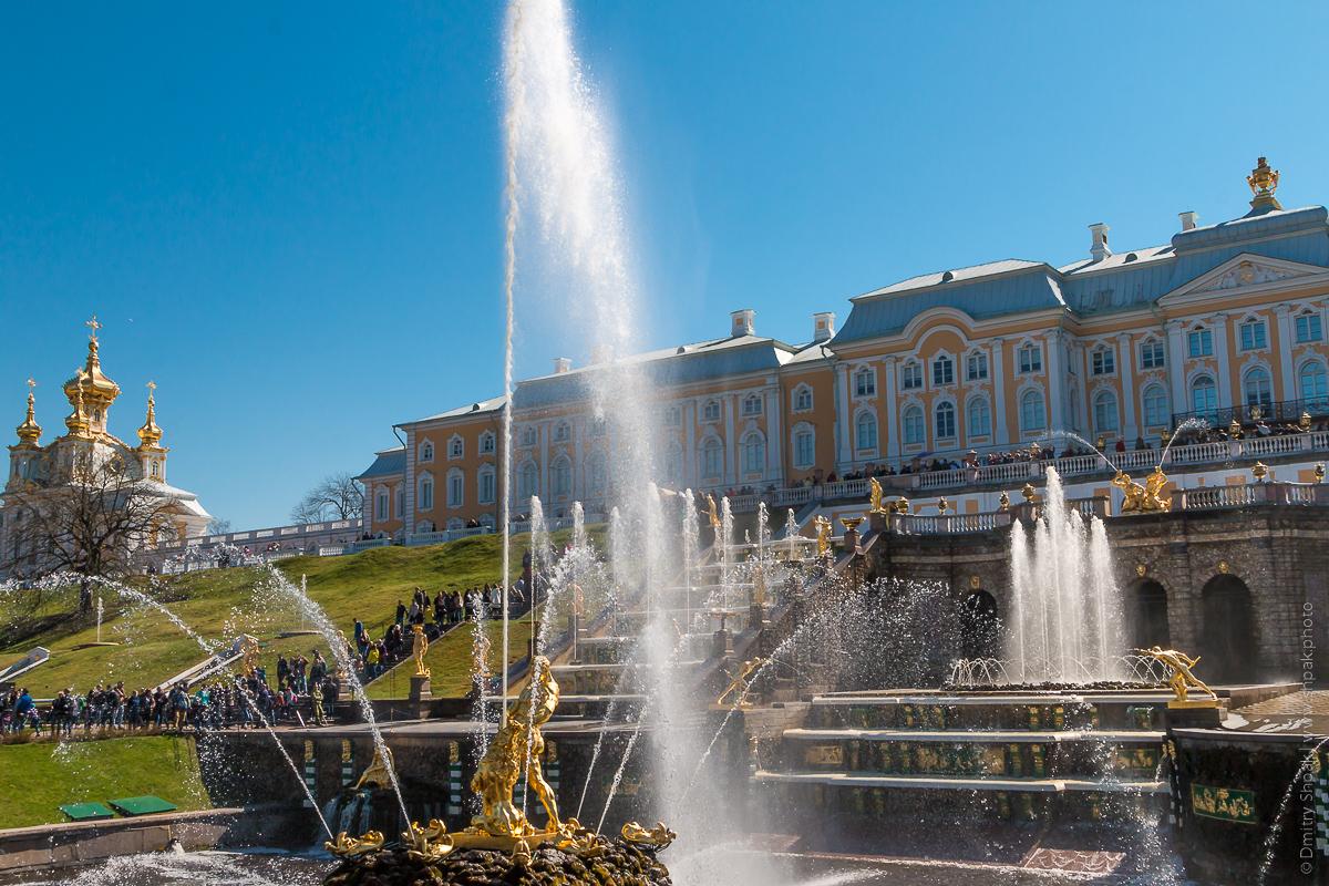 Петергоф. Нижний парк. Большой каскад и фонтан