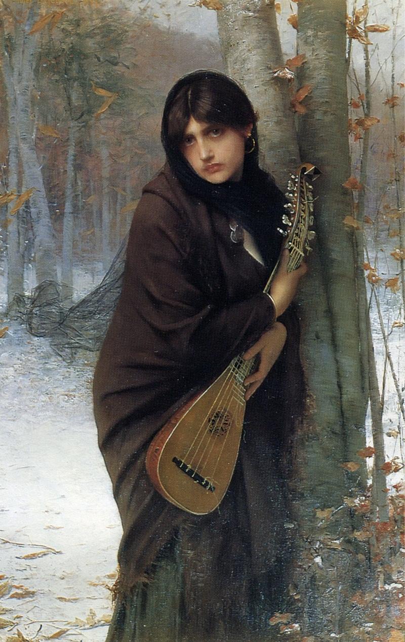 """""""A gypsy girl with a mandora"""""""