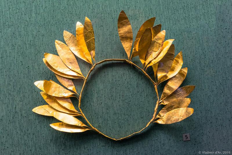 Венок погребальный. III в. до н.э. Керчь. Золото.